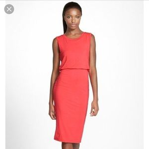 Leith coral dress.